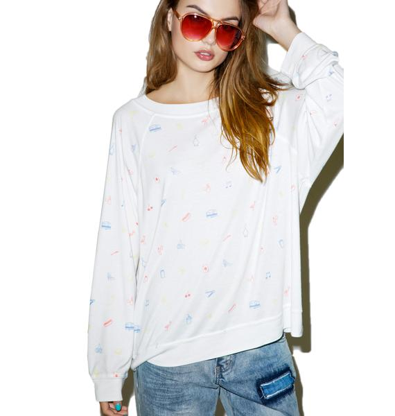 Wildfox Couture Cross Country Kim's Sweater