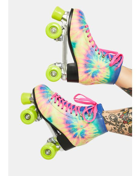 Catching Wind Tie Dye Roller Skates