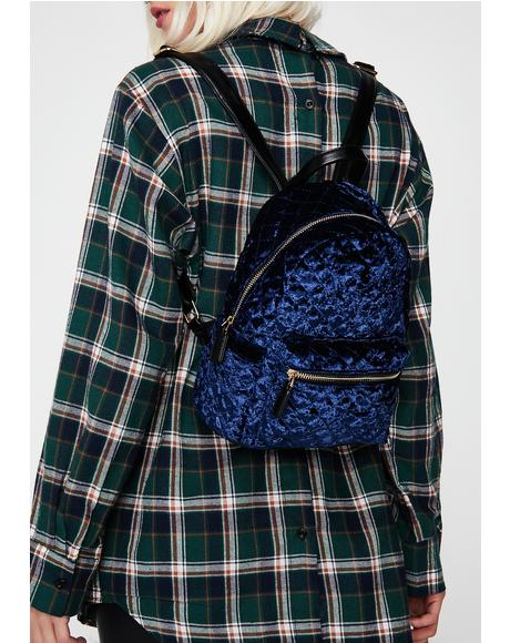 Soft Soul Velvet Backpack