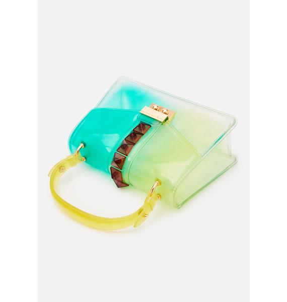 Green You're The One PVC Handbag