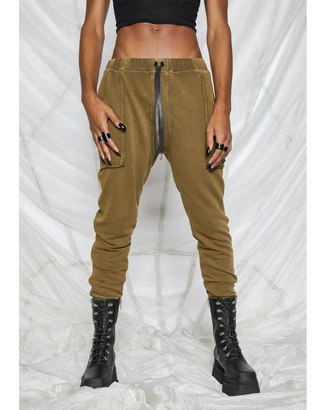 Synth Unisex Washed Olive Joggers