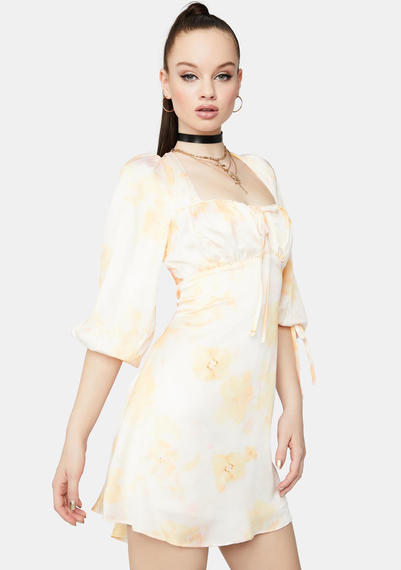 Charismatic Floral Peasant Dress