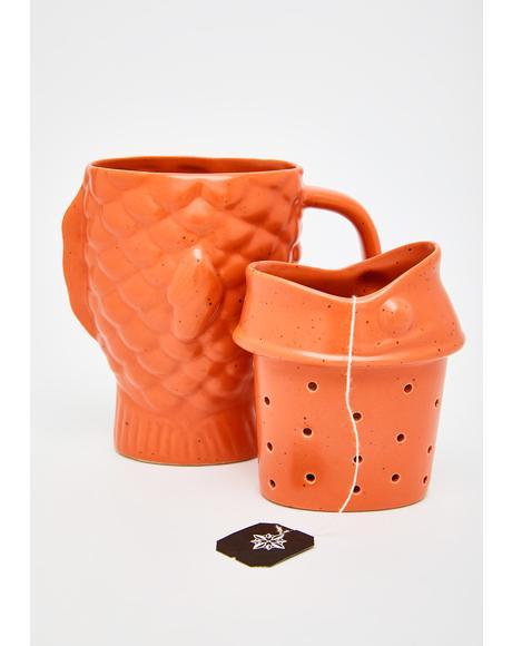 Taiyaki Time Infuser Mug
