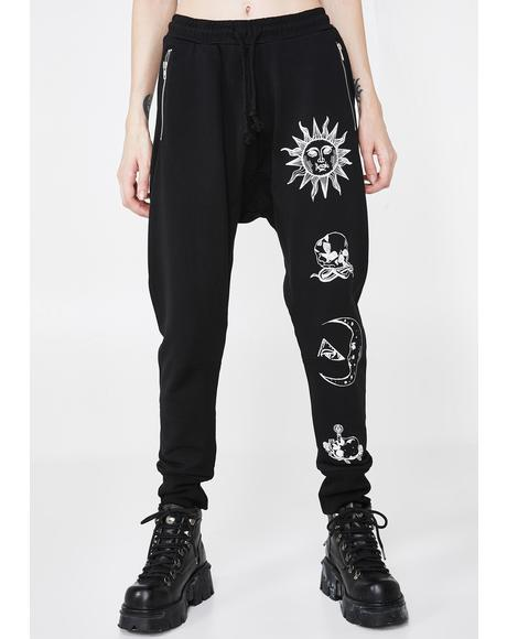Moonstone Ladies Graphic Joggers