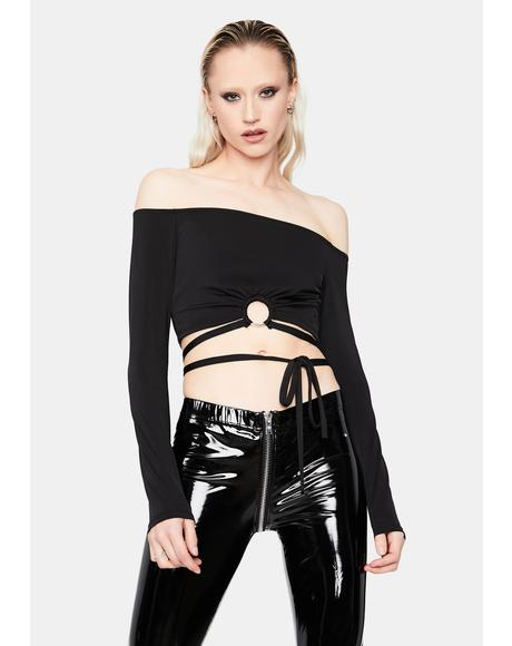 Keep To Myself Off Shoulder Crop Top