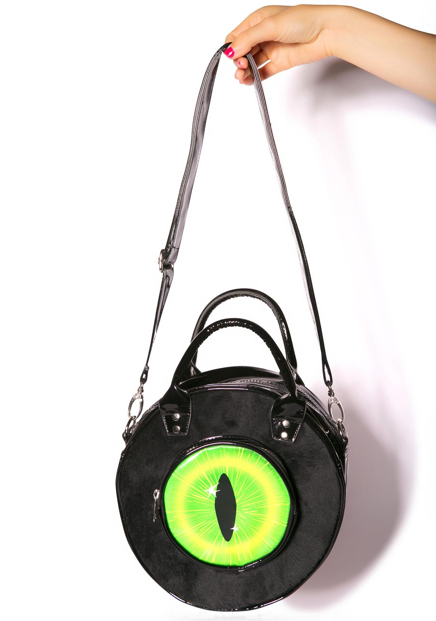 Kreepsville 666 Black Cat Eyeball Bag
