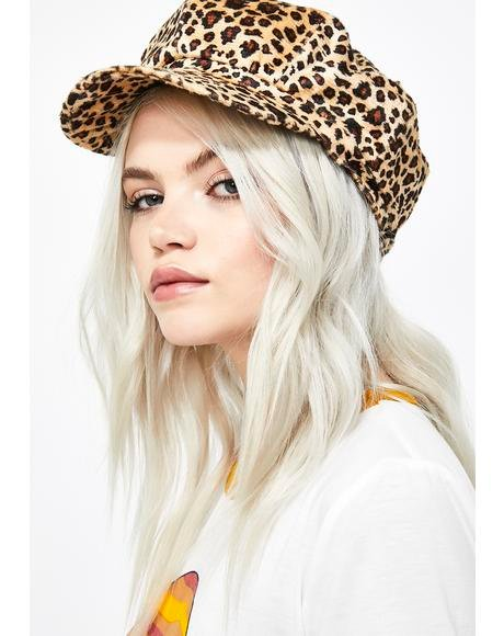 Miss Whiskers Leopard Hat
