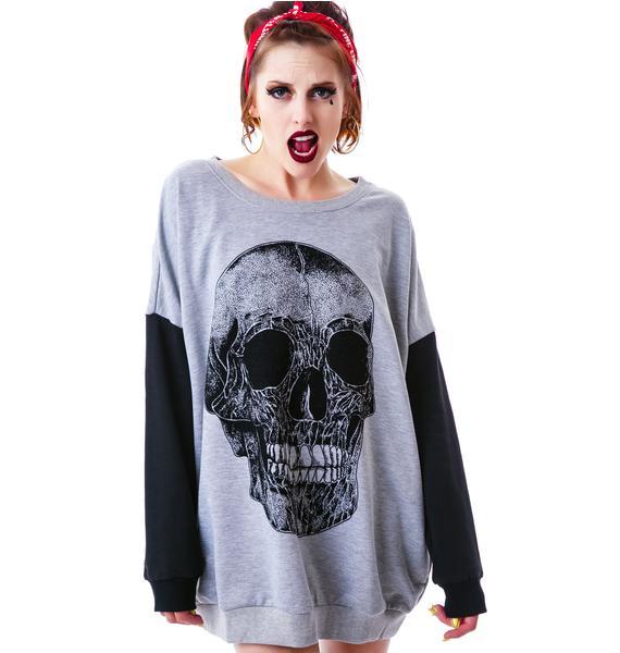 Evil Twin Stress Head Flocked Sweatshirt