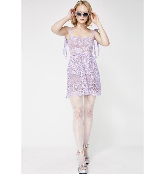 For Love & Lemons Valentina Lace Mini Dress