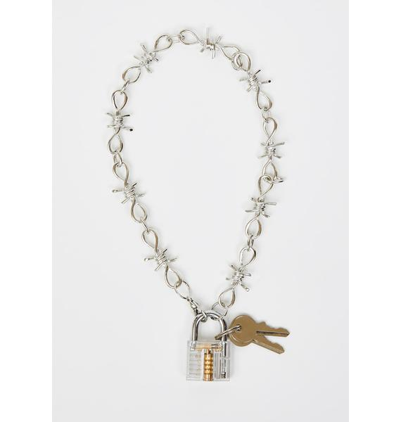 No Restraint Padlock Necklace