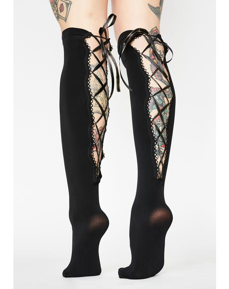 Horrid Heiress Lace Up Socks