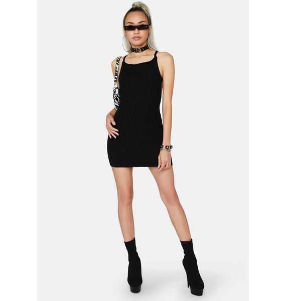 Noir Take Time Knit Dress