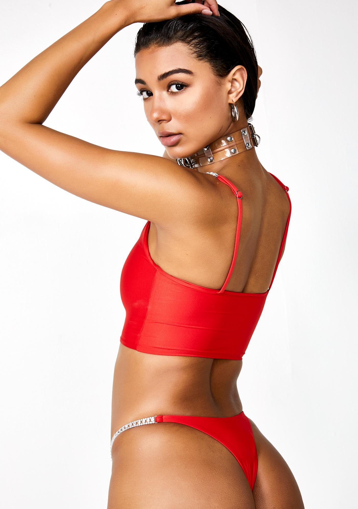 Kasakai Swimwear Cherry Bella Bikini Bottoms