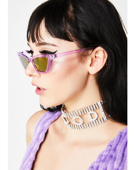 Purp Illumi Naughty Sunglasses
