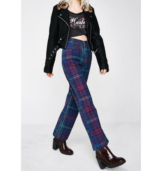 Vintage 90s Plaid Jeans