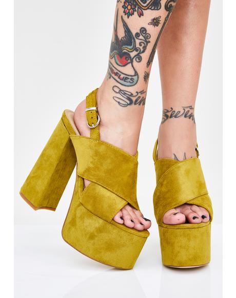 Curtsy For 'Em Platform Heels