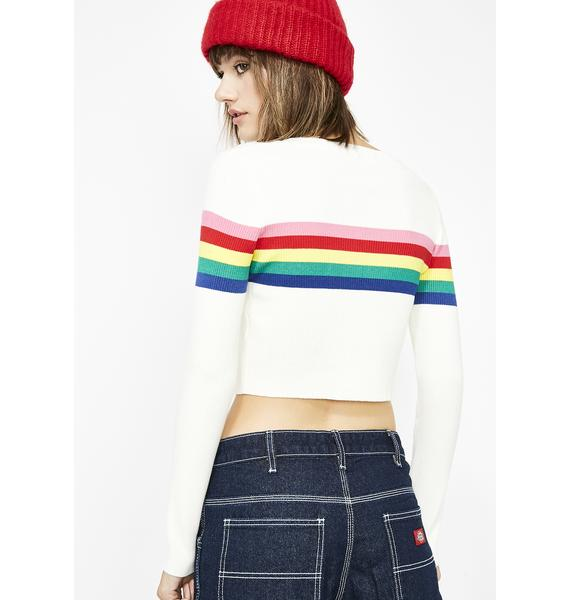 Pure Groovy Vibrations Cropped Sweater