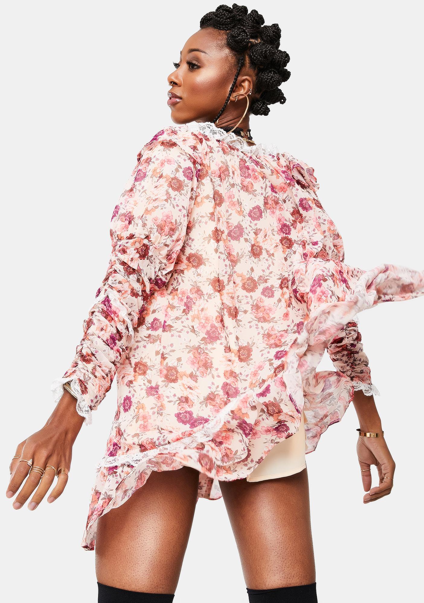 For Love & Lemons Tea Rose Evie Swing Dress
