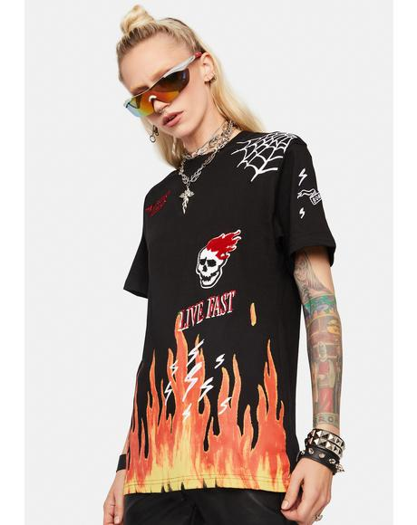 Hot Flame Graphic Tee