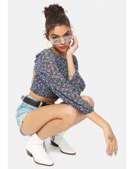 Delicate Thoughts Paisley Crop Top