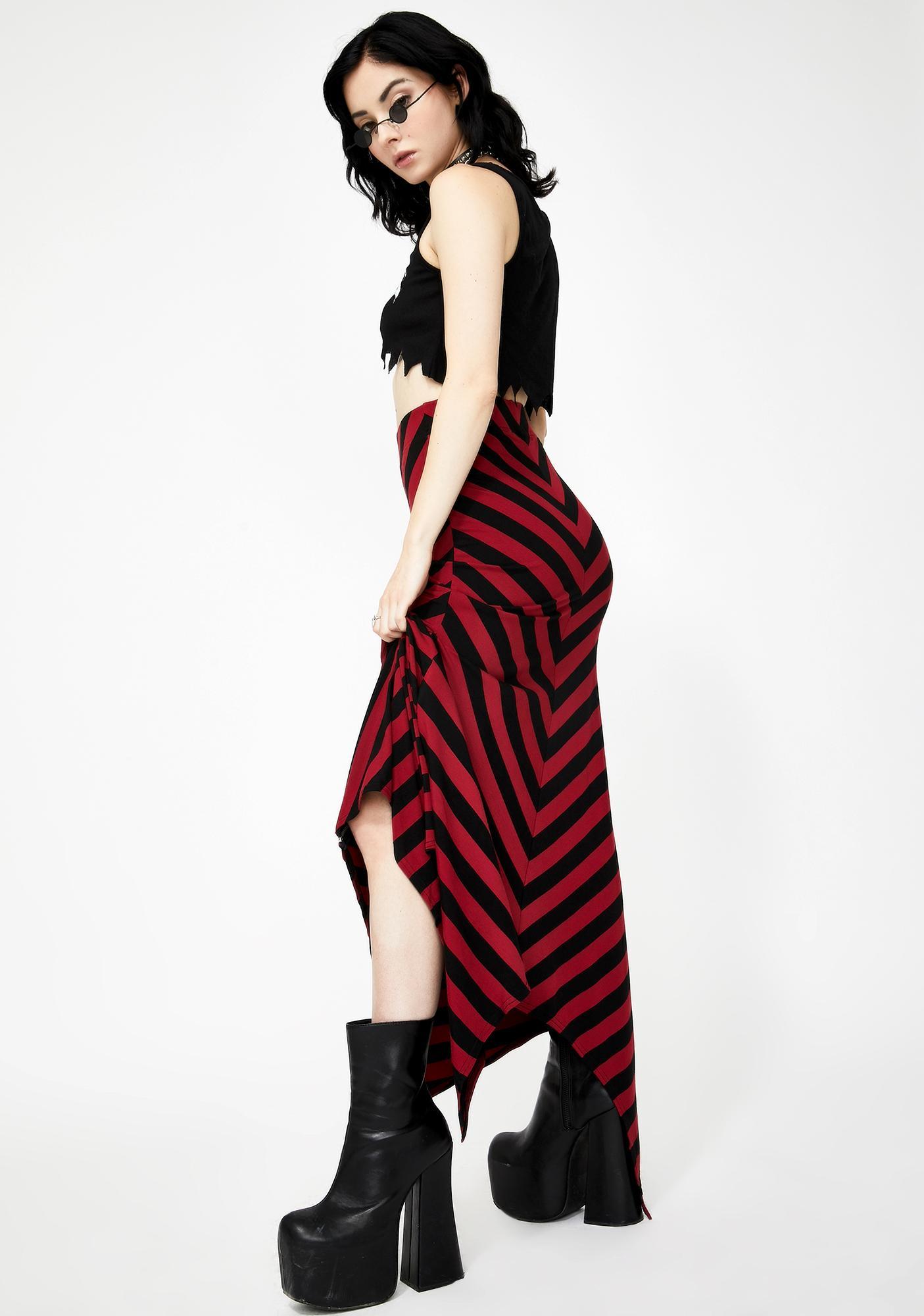 Killstar Blood Aubrey Maxi Skirt