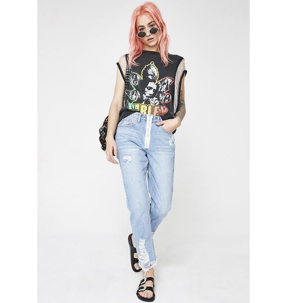 Momokrom Zip Front Jeans