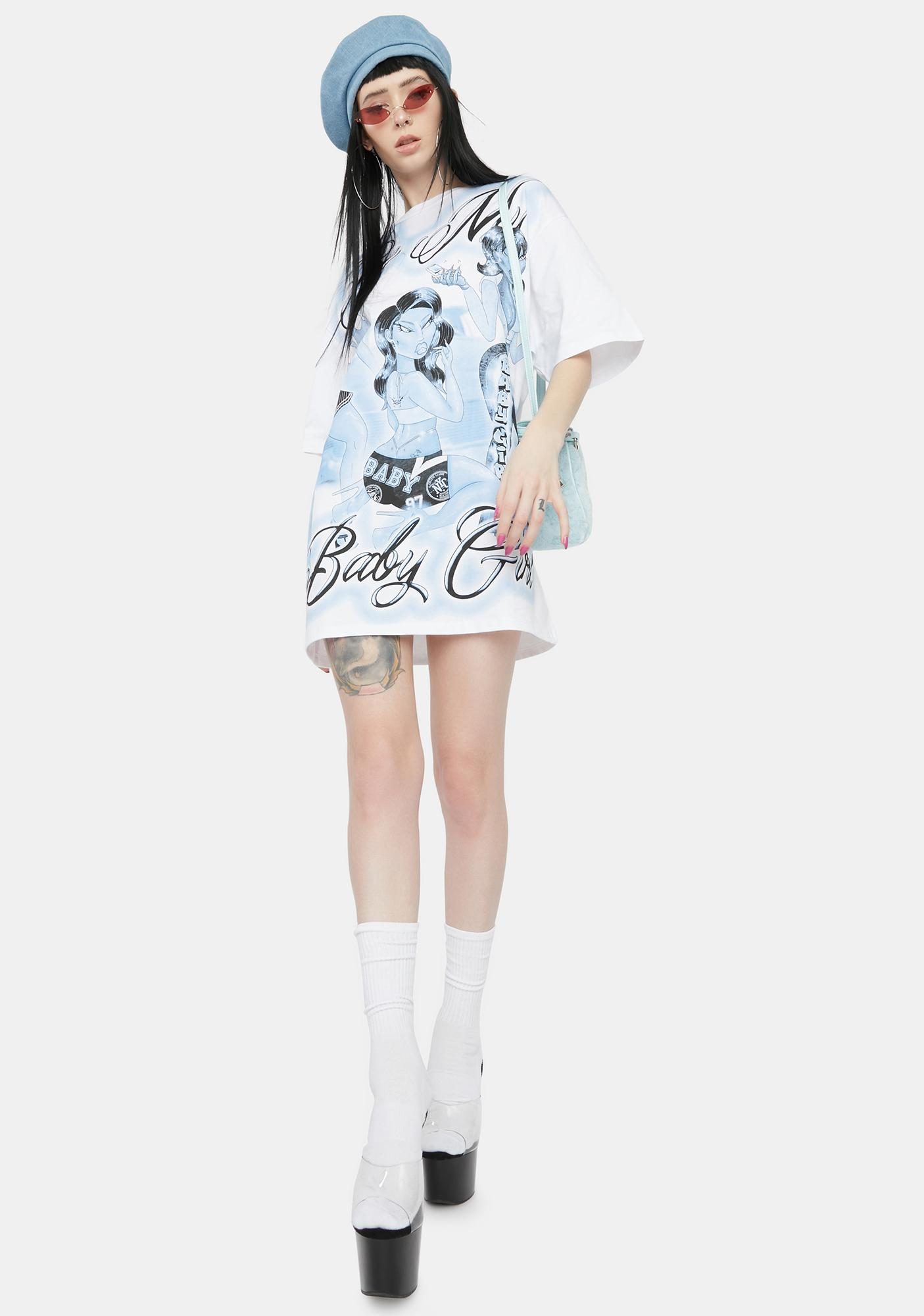 Jaded London Be My Babygirl Print T-Shirt Dress