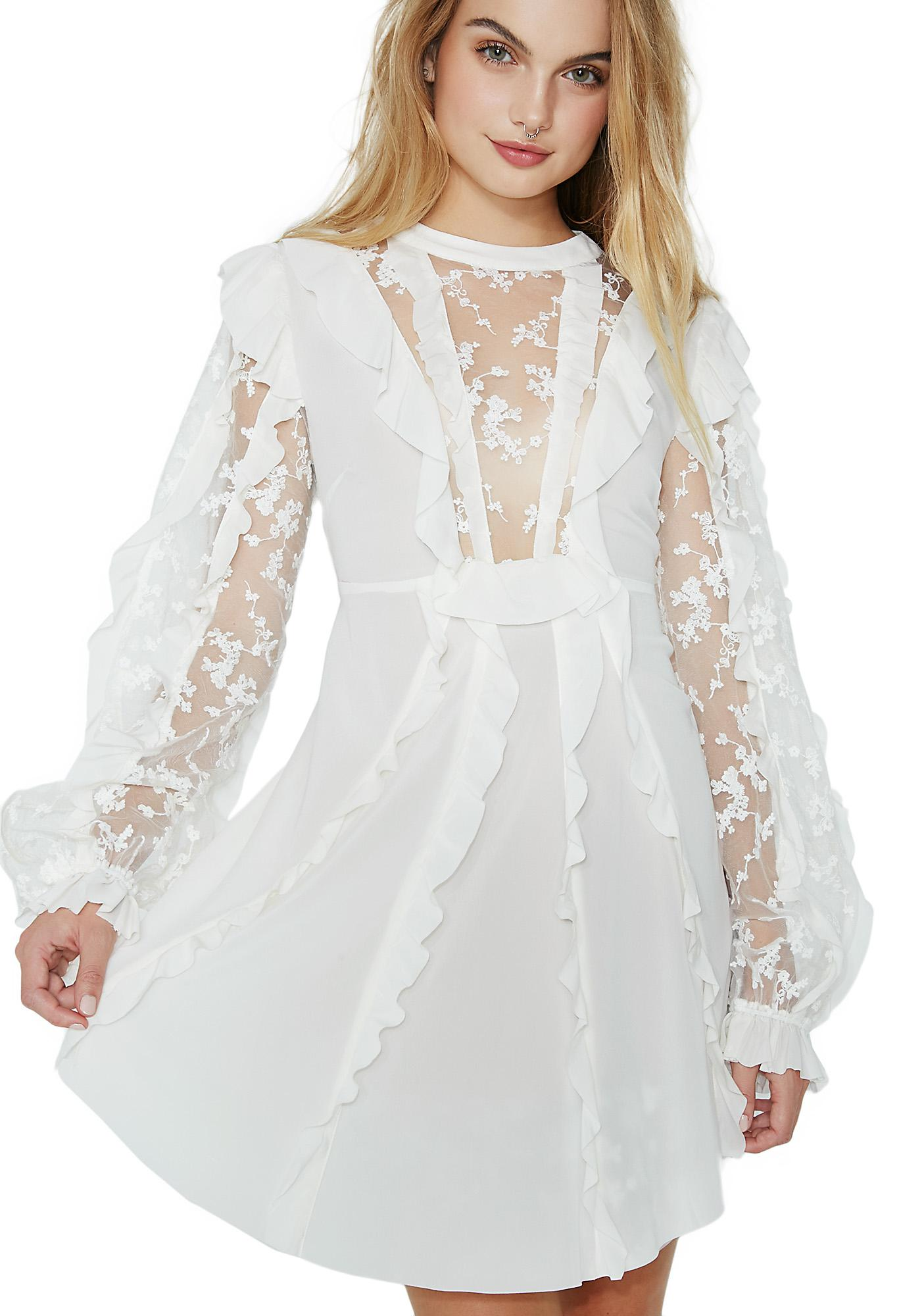 f7de0ce554bd For Love & Lemons Rosebud Ruffle Mini Dress | Dolls Kill