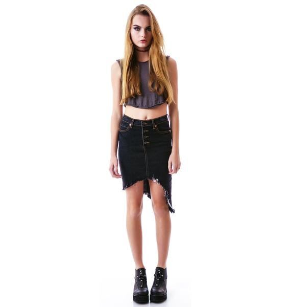 Destroyed Dreamz Asymmetrical Skirt