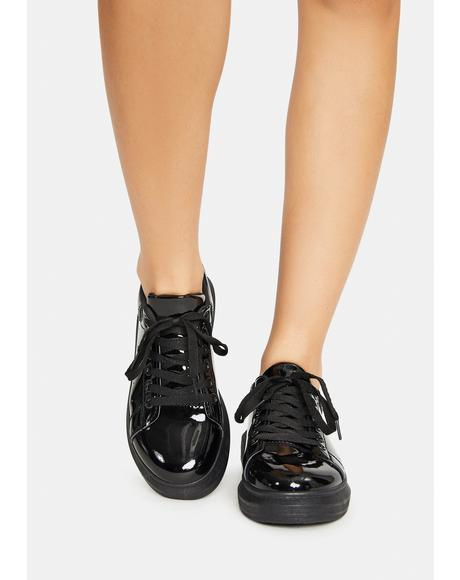 Night Tourist Trap Patent Sneakers