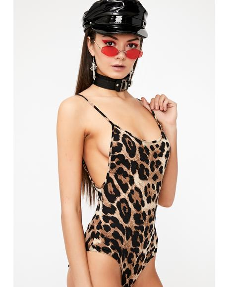 Fierce Behavior Leopard Bodysuit