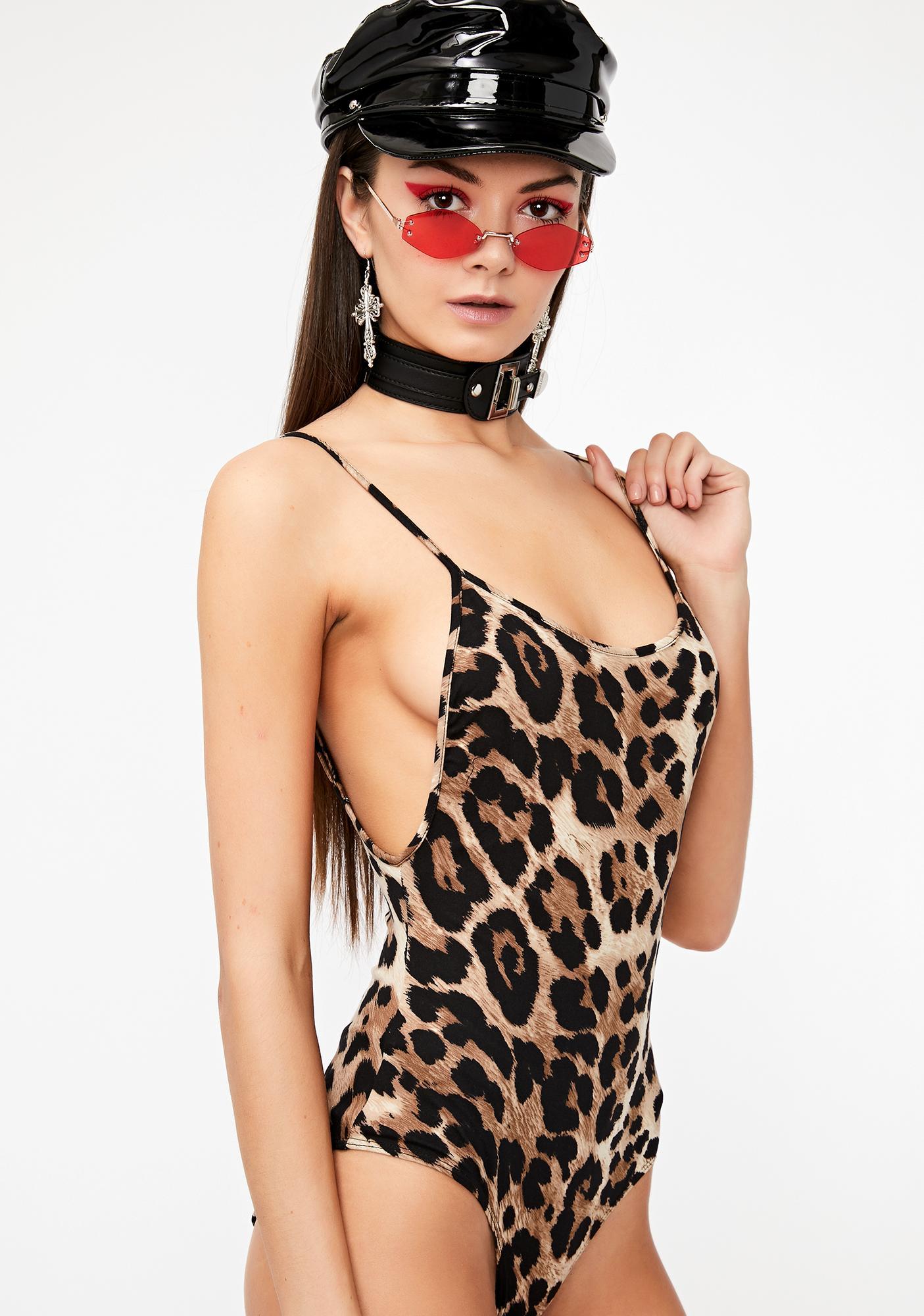 9f0bdce3c7 Knit Leopard Low Back Bodysuit