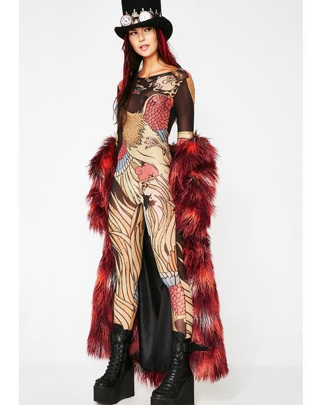 Bird Of Prey Embellished Catsuit