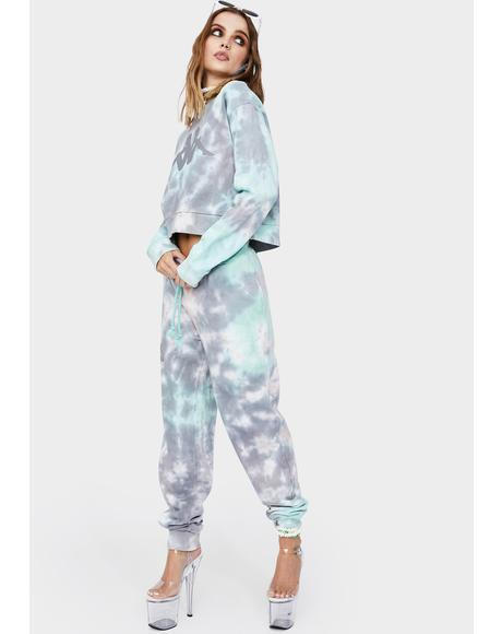 Blue Authentic Camda Tie Dye Sweatpants