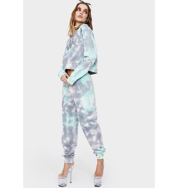 Kappa Blue Authentic Camda Tie Dye Sweatpants