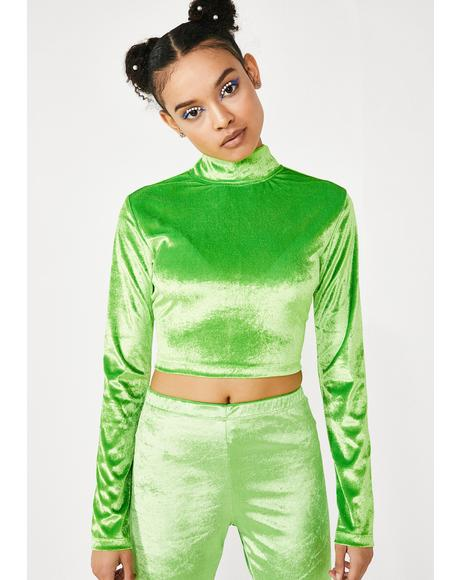 Velvet Lime Lara Top
