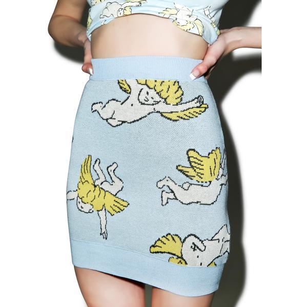 Joyrich Risen Sky Knit Skirt