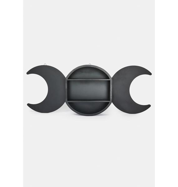 Triple Moon Shelving Display