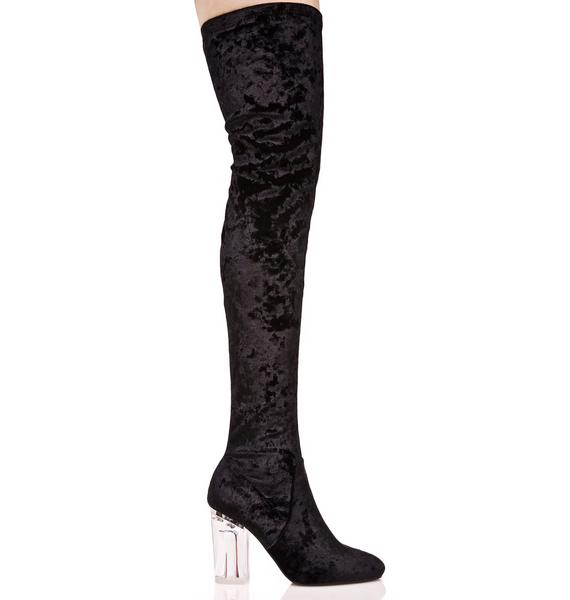 Frequency Thigh-High Boots