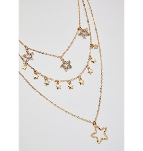 Night Sky Layered Necklace
