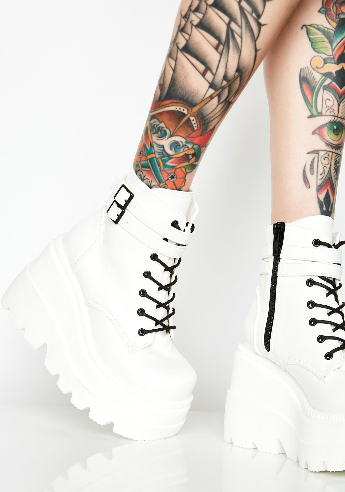 ea69540cf338 White Platform Wedge Rave Boots