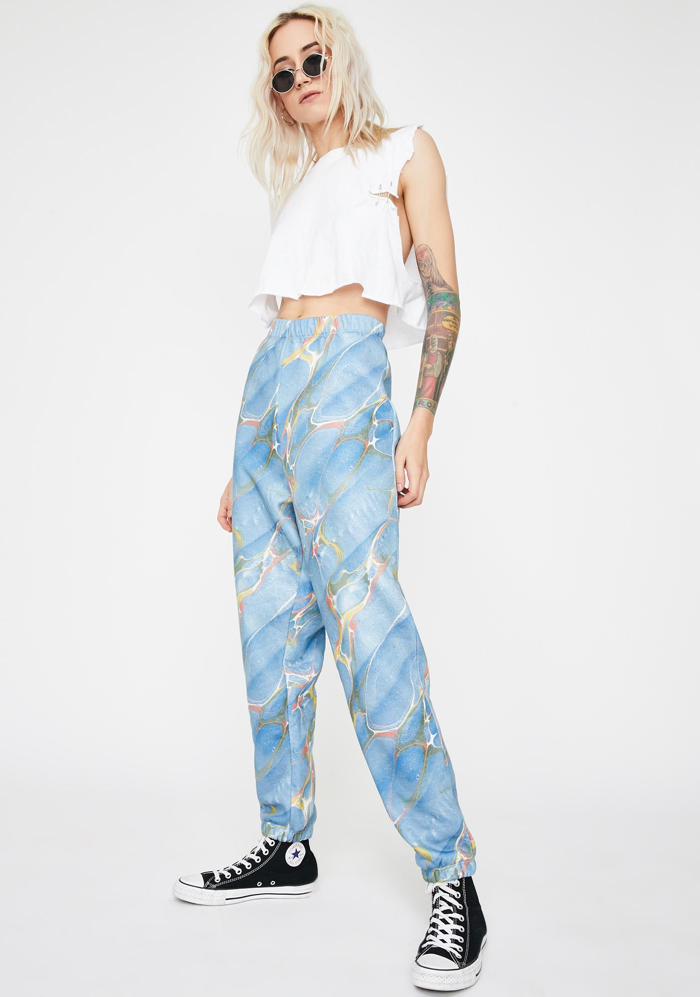 NEW GIRL ORDER Marble Jogger Sweatpants