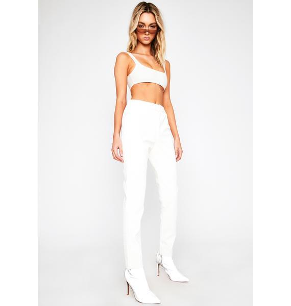 Blanc Dare To Destruct High Waist Pants