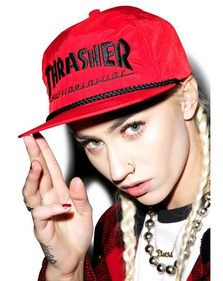 X Thrasher Collab Logo Hat