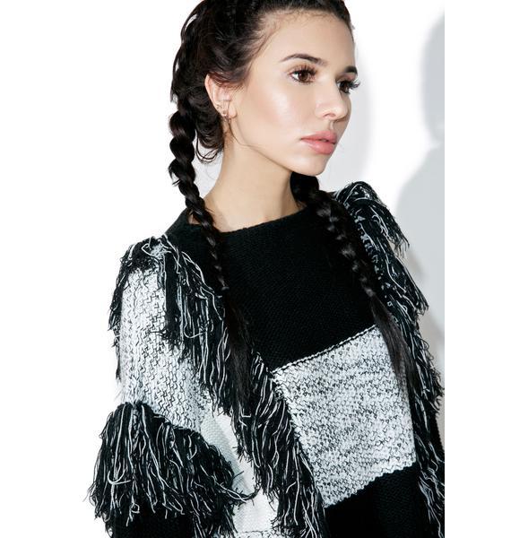 Borderline Fringed Sweater