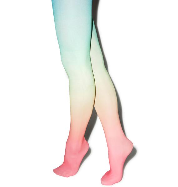 Pretty In Pastel Tights