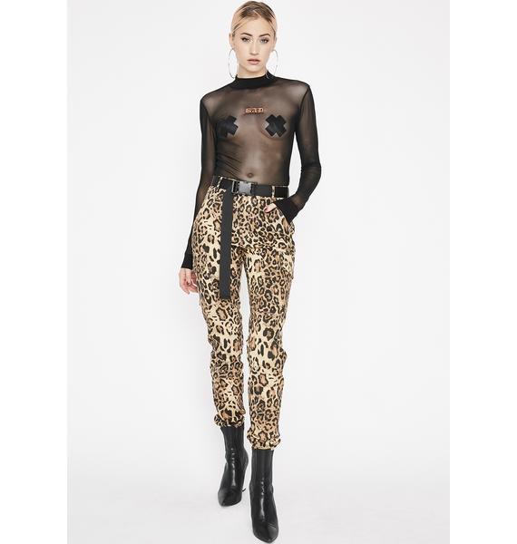Bad Girl's Club Sheer Bodysuit
