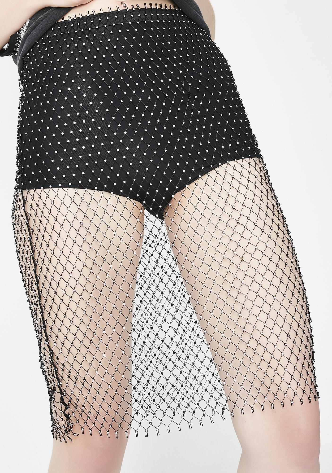 Kiki Riki Goth Bombshell Fishnet Skirt