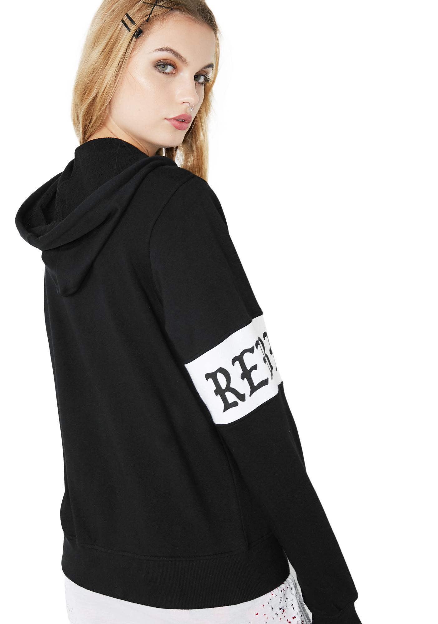 Rebel8 Scriptum Zip-Up Hoodie
