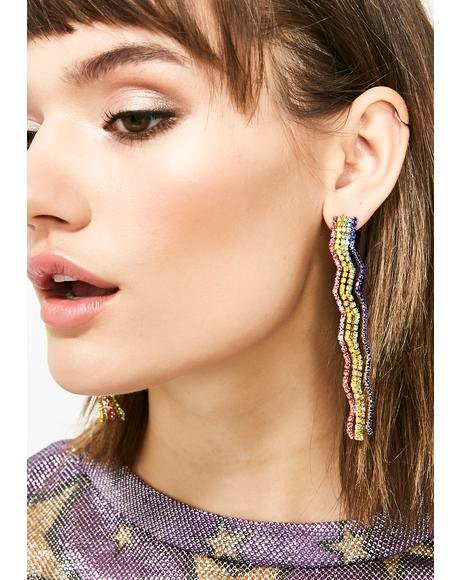 Rainbow Road Drop Earrings